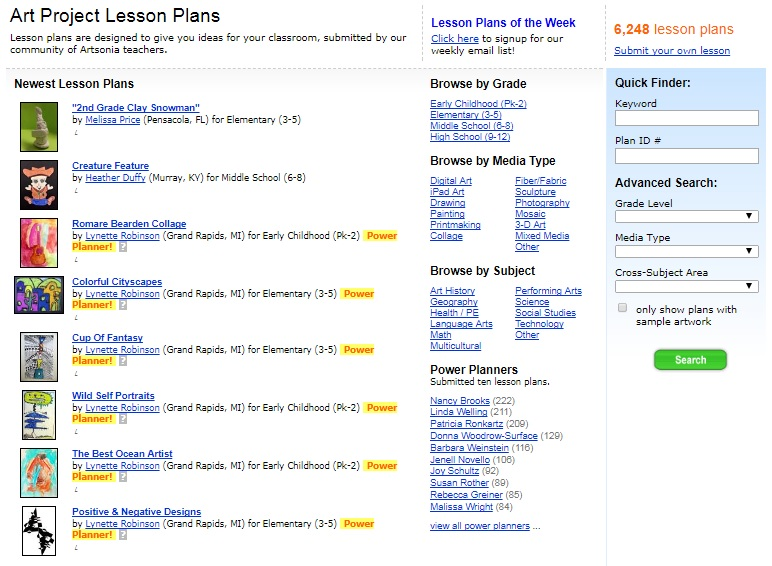 What Is A Lesson Plan Artsonia